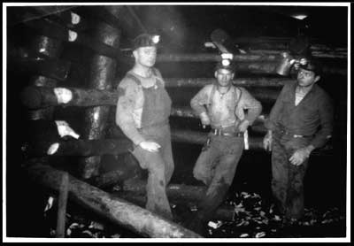 Healy River Coal Corp. miners underground in Suntrana