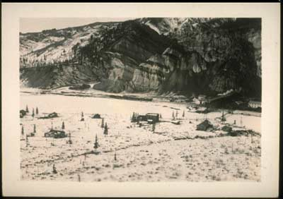 Early view of Suntrana mining site in winter