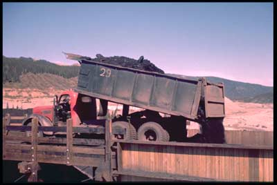 Usibelli Coal Mine trucks hauled coal from the pit to the wash plant for cleaning