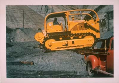Emil unloads a new UCM International Harvester TD25 dozer